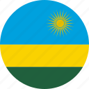 circle, circular, country, flag, flag of rwanda, flags, national, round, rwanda, rwanda flag, world icon
