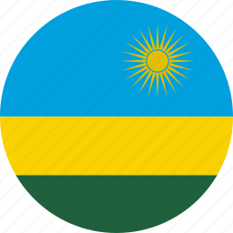 circle, circular, country, flag, flag of rwanda, flags, national, round, rwanda, rwanda flag, world icon