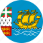and miquelon, circle, circular, country, flag, flag of saint, flags, miquelon, national, pierre, round, saint, saint pierre, saint pierre of and, world icon