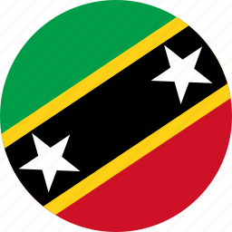 and nevis, circle, circular, country, flag, flag of saint, flags, kitts, national, nevis, round, saint, saint kitts, saint kitts of and, world icon