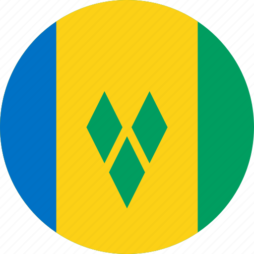 circle, circular, country, flag, flag of saint, flags, grenadines, national, round, saint, saint vincent, saint vincent and the grenadines, saint vincent of and, vincent, world icon
