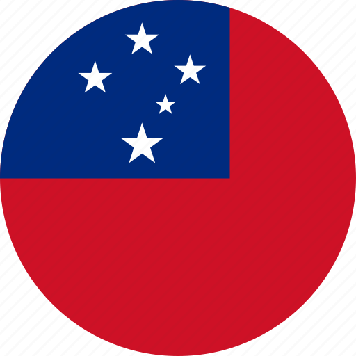 circle, circular, country, flag, flag of samoa, flags, national, round, samoa, samoa flag, world icon