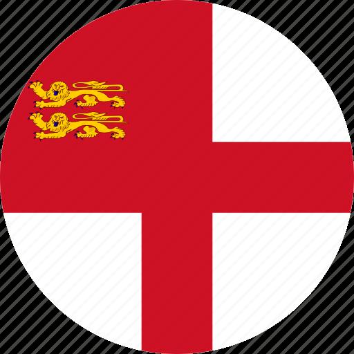 circle, circular, country, flag, flag of sark, flags, national, round, sark, sark flag, world icon