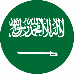 arabia, circle, circular, country, flag, flag of saudi, flags, national, round, saudi, saudi arabia, world icon