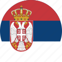 circle, circular, country, flag, flag of serbia, flags, national, round, serbia, serbia flag, world icon