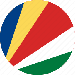 circle, circular, country, flag, flag of seychelles, flags, national, round, seychelles, seychelles flag, world icon