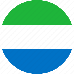circle, circular, country, flag, flag of sierra, flags, leone, national, round, sierra, sierra leone, world icon