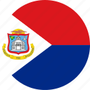 circle, circular, country, flag, flag of sint, flags, maarten, national, round, sint, sint maarten, world icon