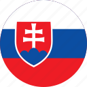 circle, circular, country, flag, flag of slovakia, flags, national, round, slovakia, slovakia flag, world icon