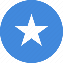 circle, circular, country, flag, flag of somalia, flags, national, round, somalia, somalia flag, world icon