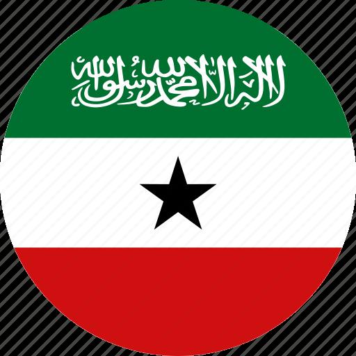 circle, circular, country, flag, flag of somaliland, flags, national, round, somaliland, somaliland flag, world icon