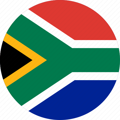 africa, circle, circular, country, flag, flag of south, flags, national, round, south, south africa, world icon