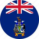 and the, and the of south, circle, circular, country, flag, flag of south, flags, georgia, islands, national, round, sandwich, south, south georgia, south georgia of and, south sandwich, south sandwich islands, world icon