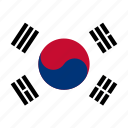 korea, south, flags