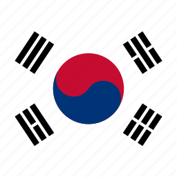 circle, circular, country, flag, flag of south, flags, korea, national, round, south, south korea, world icon