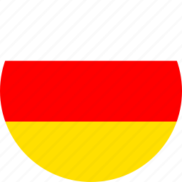 circle, circular, country, flag, flag of south, flags, national, ossetia, round, south, south ossetia, world icon