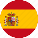 circle, circular, country, flag, flag of spain, flags, national, round, spain, spain flag, world icon