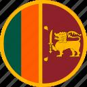 circle, circular, country, flag, flag of lankasri, flags, lankasri, lankasri flag, national, round, world icon