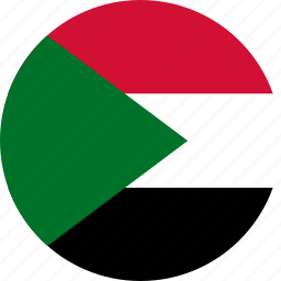 circle, circular, country, flag, flag of sudan, flags, national, round, sudan, sudan flag, world icon