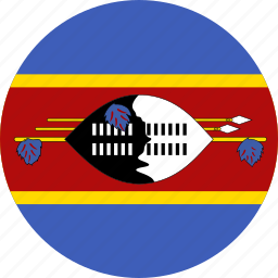 circle, circular, country, flag, flag of swaziland, flags, national, round, swaziland, swaziland flag, world icon