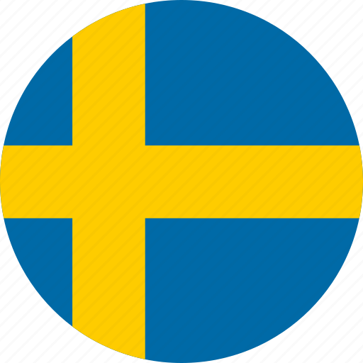 Image result for sweden flag circle