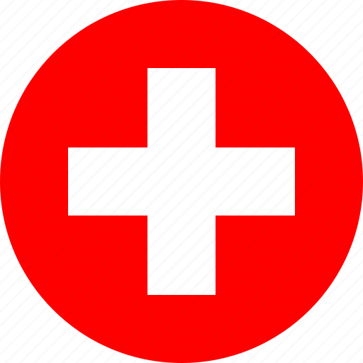 circle, circular, country, flag, flag of switzerland, flags, national, round, switzerland, switzerland flag, world icon