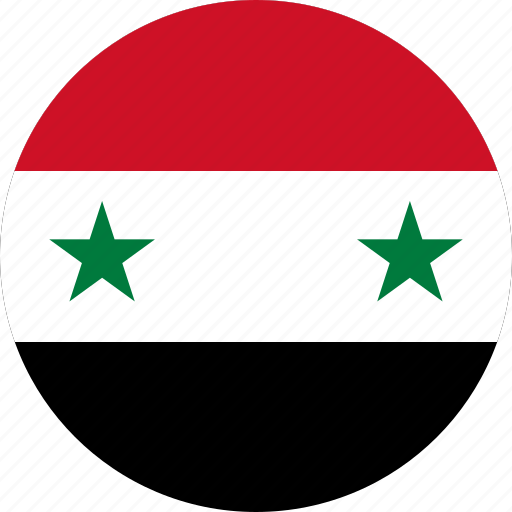 Circle Circular Country Flag Flag Of Syria Flags National - Syria flag