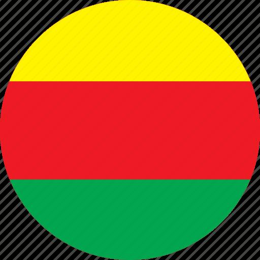 circle, circular, country, flag, flag of syrian, flags, kurdistan, national, round, syrian, syrian kurdistan, world icon
