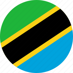 circle, circular, country, flag, flag of tanzania, flags, national, round, tanzania, tanzania flag, world icon