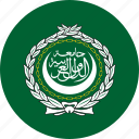 arab, league, flag