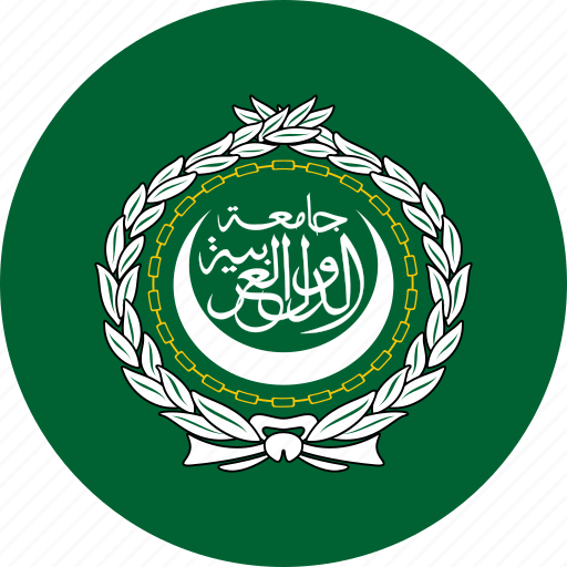 arab, circle, circular, country, flag, flag of the, flags, league, national, round, the arab, the arab league, world icon
