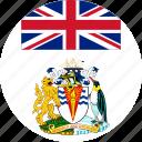 antarctic, british, flag, teritorry icon