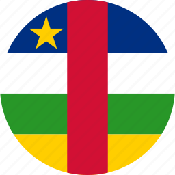 african, central, central african, central african republic, circle, circular, country, flag, flag of central, flags, national, republic, round, world icon