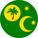 cocos, flag, island icon