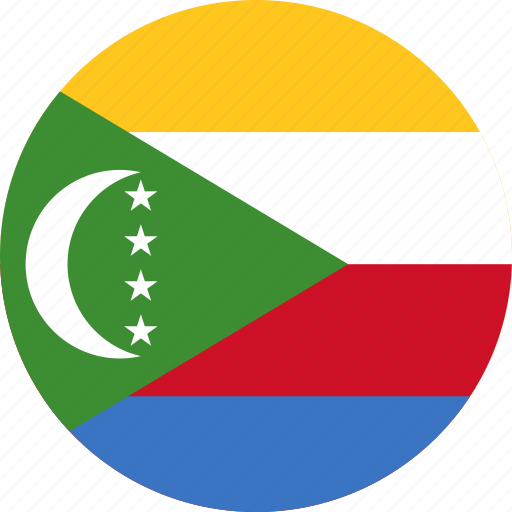circle, circular, comoros, comoros flag, country, flag, flag of comoros, flags, national, round, world icon
