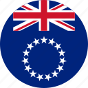 circle, circular, cook, cook islands, country, flag, flag of cook, flags, islands, national, round, world icon