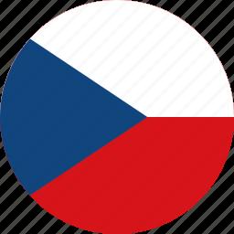 circle, circular, country, czech, czech republic, flag, flag of czech, flags, national, republic, round, world icon