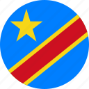 circle, circular, congo, country, democratic, democratic republic, democratic republic of of, drc, flag, flag of democratic, flags, national, of congo, republic, round, world icon