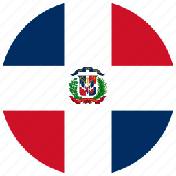 circle, circular, country, dominican, dominican republic, flag, flag of dominican, flags, national, republic, round, world icon