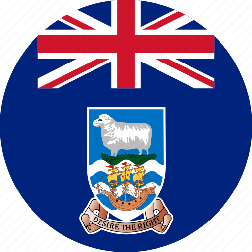 circle, circular, country, falkland, falkland islands, flag, flag of falkland, flags, islands, national, round, world icon