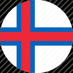 circle, circular, country, faroe, faroe islands, flag, flag of faroe, flags, islands, national, round, world icon