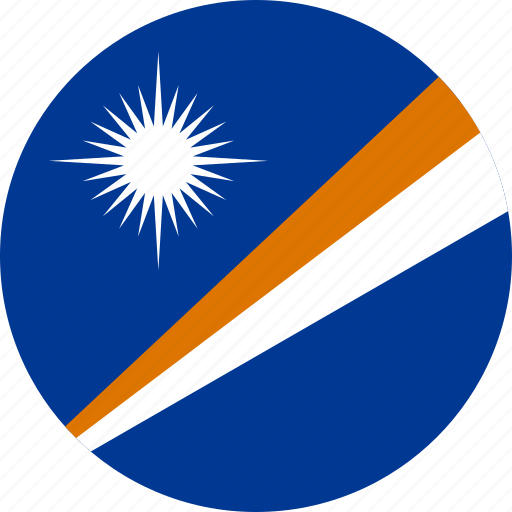 circle, circular, country, flag, flag of marshall, flags, islands, marshall, marshall islands, national, round, world icon
