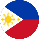 circle, circular, country, flag, flag of philippines, flags, national, philippines, philippines flag, round, world icon