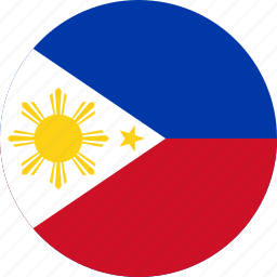 circle, circular, country, flag, flag of philippines, flags, national, philippines, philippines flag, round, world icon