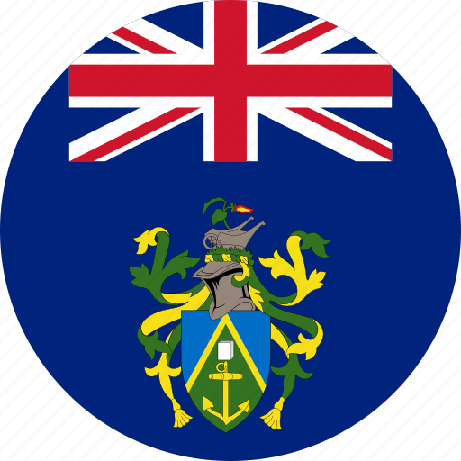 circle, circular, country, flag, flag of picairn, flags, islands, national, picairn islands, pitcairn, round, world icon