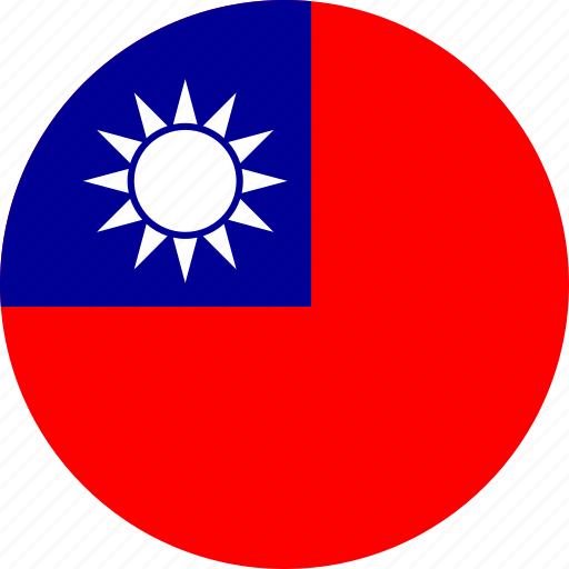 china, circle, circular, country, flag, flag of republic, flags, national, republic, republic of, republic of china, round, world icon
