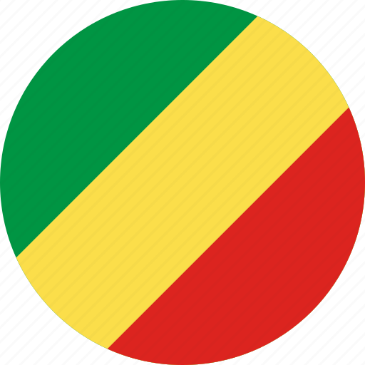 circle, circular, congo, country, flag, flag of the, flags, national, of congo, republic, round, the republic, the republic of of, world icon