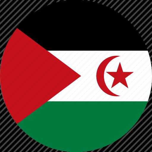arab, arab democratic, arab democratic republic, circle, circular, country, democratic, flag, flag of the, flags, national, republic, round, sadr, sahrawi, the sahrawi, the sahrawi of arab, world icon