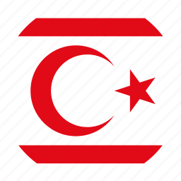 circle, circular, country, cyprus, flag, flag of turkish, flags, national, northern, of northern, of northern cyprus, republic, round, turkish, turkish republic, turkish republic of of, world icon