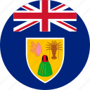 and caicos, and caicos islands, caicos, circle, circular, country, flag, flag of the, flags, islands, national, round, the turks, the turks of and, turks, world icon